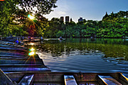 Central Park Skyline Prints - Sunshine on Central Park Lake Print by Randy Aveille