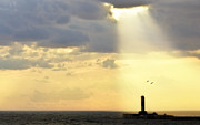 Sun Rays Originals - Sunshine on Lighthouse by Jeramie Curtice