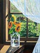 Sunflower Paintings - Sunshine by Sharon Marcella Marston