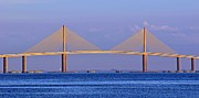 Florida Bridges Prints - Sunshine Skyway Bridge FL. Print by William Hanus
