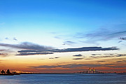Sunshine Skyway Bridge Prints - Sunshine Skyway Bridge Print by Skip Nall