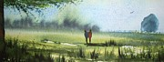 Fencing Paintings - Sunshine Stroll by Trudy Kepke