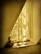 Silver Pitcher Posters - Sunshine Through the Window Poster by Jean Goodwin Brooks