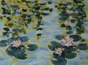 Water Lilies Framed Prints Prints - Sunshines Babies Print by Zanobia Shalks