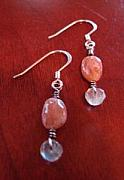 Featured Jewelry - Sunstone Labradorite Sterling Earrings by MIchelle LaCoille