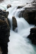 Alberta Water Falls Prints - Sunwapta Falls Print by Larry Ricker