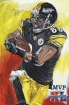 Pittsburgh Painting Framed Prints - Super Bowl MVP Hines Ward Framed Print by David Courson
