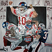 David Courson Art - Super Bowl XLII Champs  by David Courson