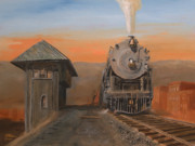 Locomotive Paintings - Super Power at Scranton by Christopher Jenkins