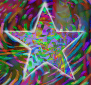 Superstar Mixed Media Prints - Super Star Print by Kevin Caudill