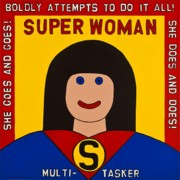 Outsider Art Paintings - Super Woman by MaryAnn Kikerpill