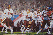 Game Painting Framed Prints - Superbowl XII Framed Print by Donna Tucker
