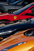 Autos Posters - Supercars Ferrari Emblem Poster by Jill Reger