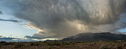Back Country Prints - Supercell over Sandia Mountains Print by Matt Tilghman