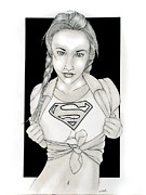 Supergirl Drawings Originals - Supergirl by Nathan  Miller