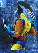 Wolverine Paintings - Superhero by Steve Benton