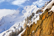 Snowbird Prints - Superior Peak in the Utah Wasatch Mountains  Print by Utah Images