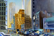 Chicago Landmark Paintings - Superior Street by Rick Clubb