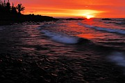 North Shore Prints - Superior Sunrise 2 Print by Larry Ricker