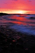 North Shore Prints - Superior Sunrise Print by Larry Ricker