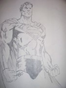 Superhero Drawings - Superman 2 by Mat Smith
