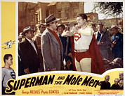 1950s Poster Art Framed Prints - Superman And The Mole Men, Jeff Corey Framed Print by Everett