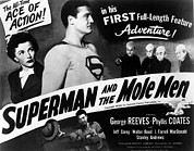 1950s Poster Art Framed Prints - Superman And The Mole Men, Phyllis Framed Print by Everett