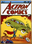 Action Acrylic Prints - Superman Comic Book, 1938 Acrylic Print by Granger