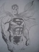 Super Hero Drawings - Superman by Mat Smith