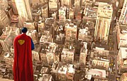 Leon Jimenez - Superman Over Metropolis...