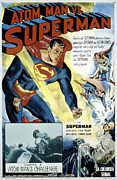 1940s Poster Art Framed Prints - Superman, Serial, Kirk Alyn, Chapter 6 Framed Print by Everett