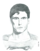 Super Hero Drawings - Superman by Thomas Elliott