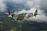 Supermarine Prints - Supermarine Spitfire Mk.xvi Fighter Print by Daniel Karlsson