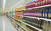 Grocery Store Prints - Supermarket Shelves and Aisle Print by Dave & Les Jacobs