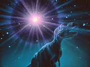 Impact Metal Prints - Supernova Dinosaur Extinction Metal Print by Joe Tucciarone