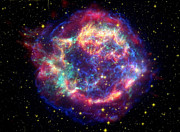 Cassiopeia Constellation Prints - Supernova Remnant Cassiopeia A Print by Stocktrek Images