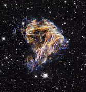 Stellar Remnant Prints - Supernova Remnant Lmc N 49, Hst Image Print by Space Telescope Science Institute / NASA