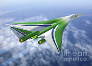 Artist Rendering Framed Prints - Supersonic Aircraft Design Framed Print by NASA/Science Source