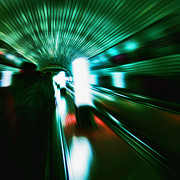 Tunnel Acrylic Prints - Supersonic Acrylic Print by Andrew Paranavitana