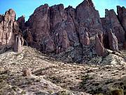 Mountains Photograph Painting Acrylic Prints - Superstition Mountains Acrylic Print by Stanley Morganstein