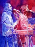 Bands Painting Prints - Supertramp Print by David Lloyd Glover