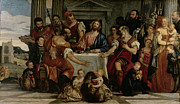Crowds Paintings - Supper at Emmaus by Veronese