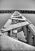 Rivet Metal Prints - Supporting Structure Metal Print by Bill Tiepelman