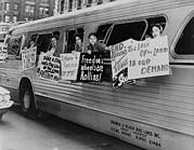 Discrimination Prints - Supporting The Freedom Riders. Members Print by Everett