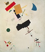 Geometric Shapes Posters - Suprematist Composition No 56 Poster by Kazimir Severinovich Malevich