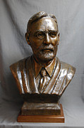 Portraits Sculptures - Supreme Court Justice George Sutherland custom bronze sculpture by Stan Watts