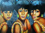 Motown Painting Originals - Supremes by Jan Gilmore