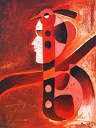 Musical Notes Painting Originals - Sur Srijan  by Sanjeev Babbar