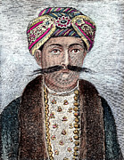 Turban Framed Prints - Surajah Dowlah (1729-1757) Framed Print by Granger