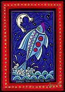 Shamanic Prints - Surely Fish Knows the Way Print by Angela Treat Lyon